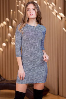 Короткое платье с длинным рукавом RUXARA