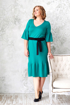 Зеленое платье миди Angela Ricci
