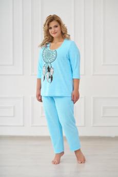 Теплая бирюзовая пижама/костюм Шарлиз
