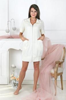 Новинка: молочный махровый халат Милана